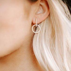 Kittenish raising the bar earrings
